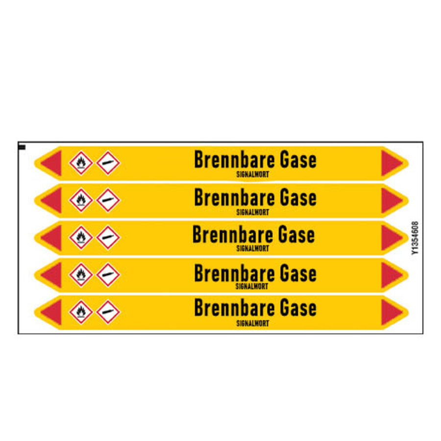 Pipe markers: Propylen | German | Flammable gas