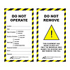 Laminated Safety Tag DO NOT OPERATE