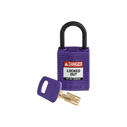 SafeKey Compact nylon safety padlock purple 150186