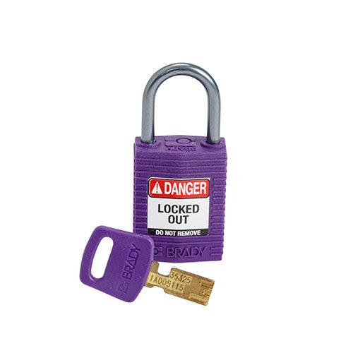SafeKey Compact nylon safety padlock aluminium shackle purple 152161