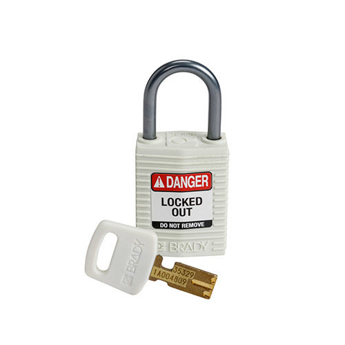 SafeKey Compact nylon safety padlock aluminium shackle white 152163