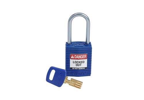SafeKey Compact nylon safety padlock aluminium shackle blue 151658