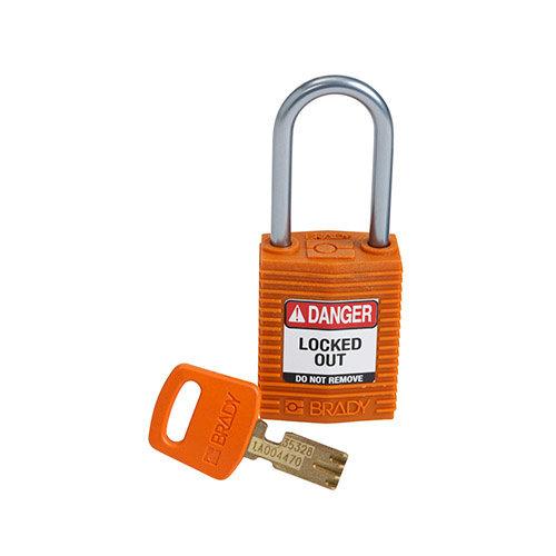 SafeKey Compact nylon safety padlock aluminium shackle orange 151660