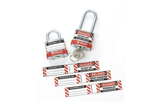 Labels for Steel Padlocks