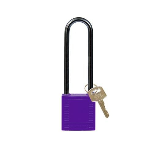 Nylon compact safety padlock purple 814151
