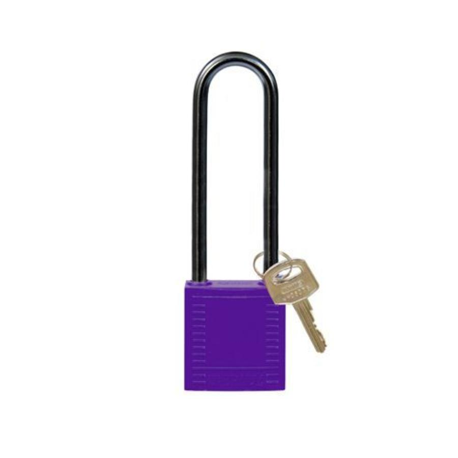 Nylon compact safety padlock purple 814151