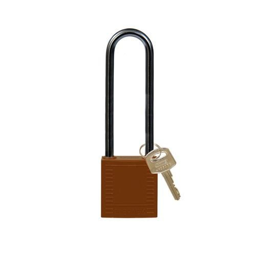 Nylon compact safety padlock brown 814150