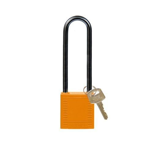 Nylon compact safety padlock orange 814149