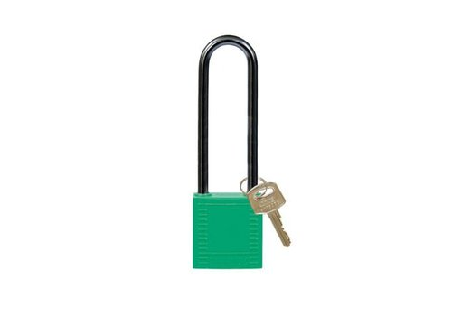 Nylon compact safety padlock green 814148