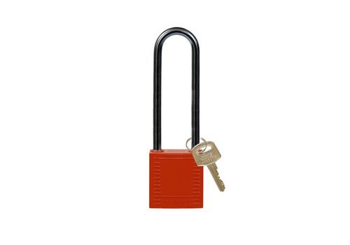 Nylon compact safety padlock red 814146