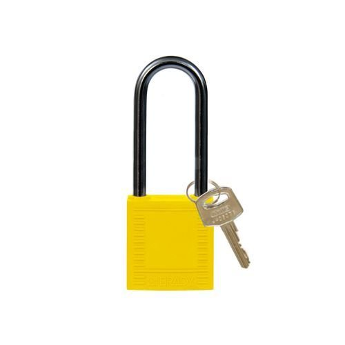 Nylon compact safety padlock yellow 814137