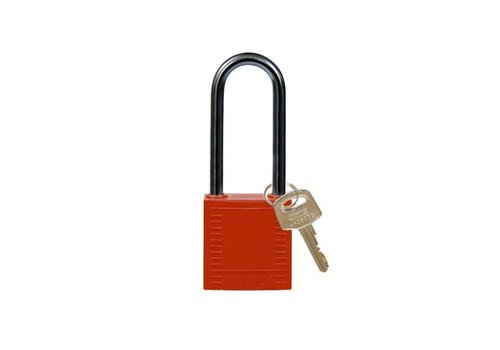 Nylon compact safety padlock red 814136