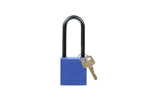 Nylon compact safety padlock blue 814134