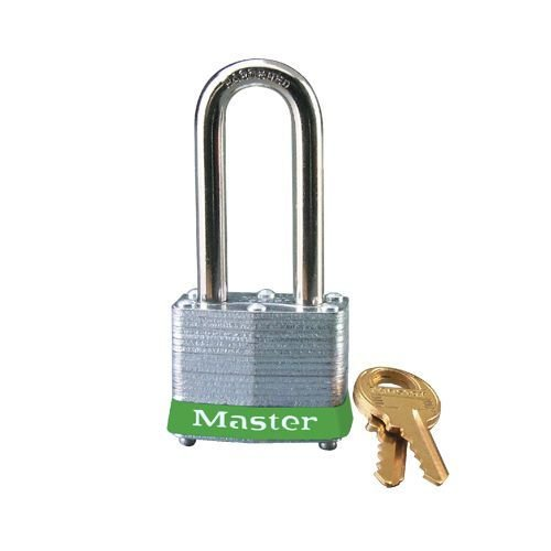 Laminated steel padlock green 3LHGRN