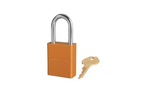 Anodized aluminium safety padlock orange S1106ORJ