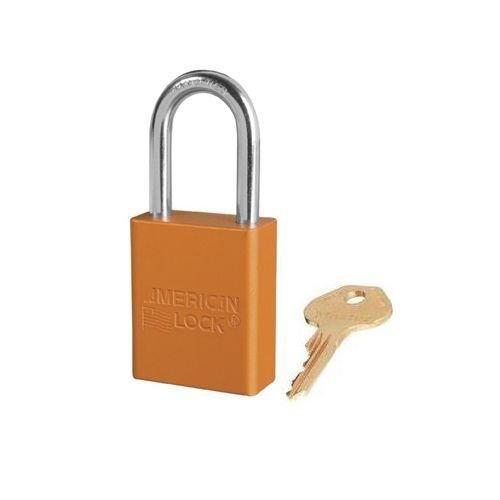 Anodized aluminium safety padlock orange S1106ORJ