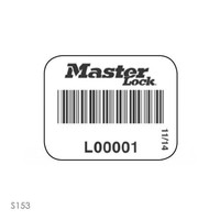 Padlock labels with barcode (100 pcs) S150-S153
