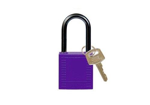 Nylon compact safety padlock purple 814131