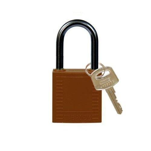 Nylon compact safety padlock brown 814130