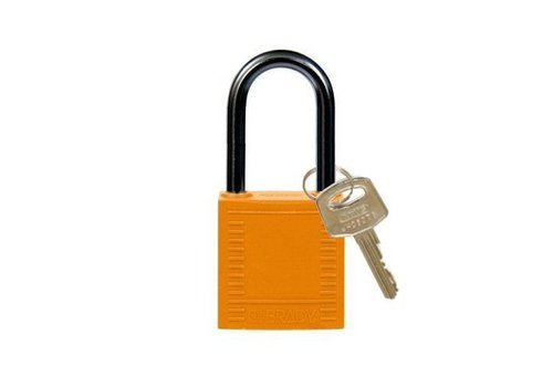 Nylon compact safety padlock orange 814129
