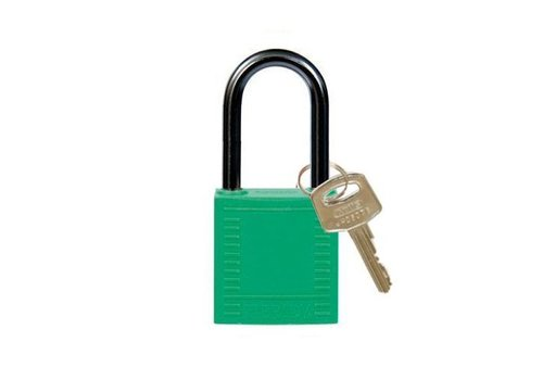 Nylon compact safety padlock green 814128