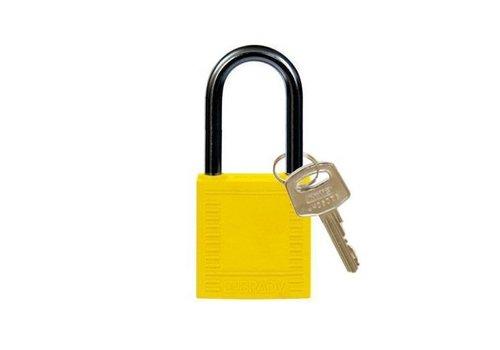 Nylon compact safety padlock yellow 814127
