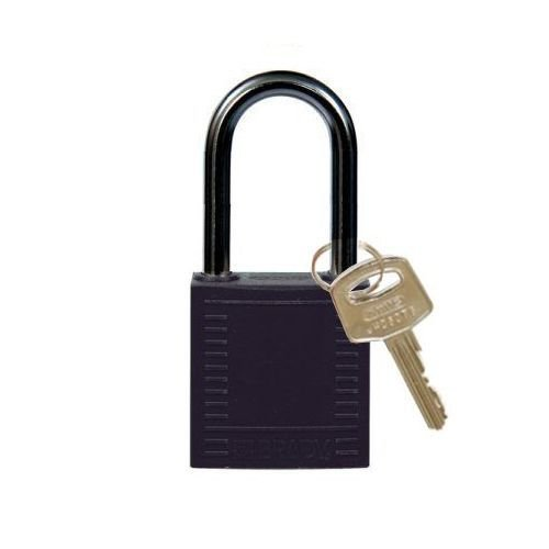 Nylon compact safety padlock black 814125