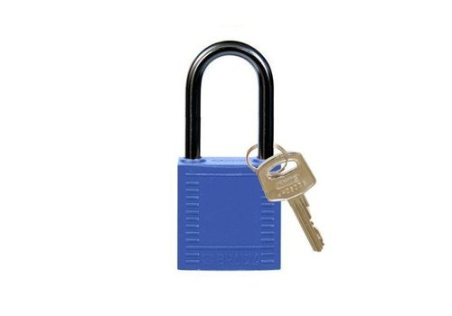 Nylon compact safety padlock blue 814124
