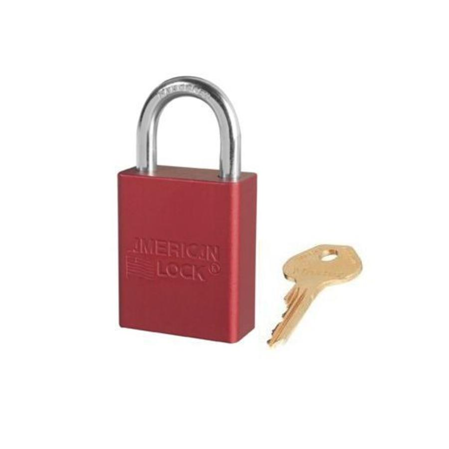 Anodized aluminium safety padlock red S1105RED