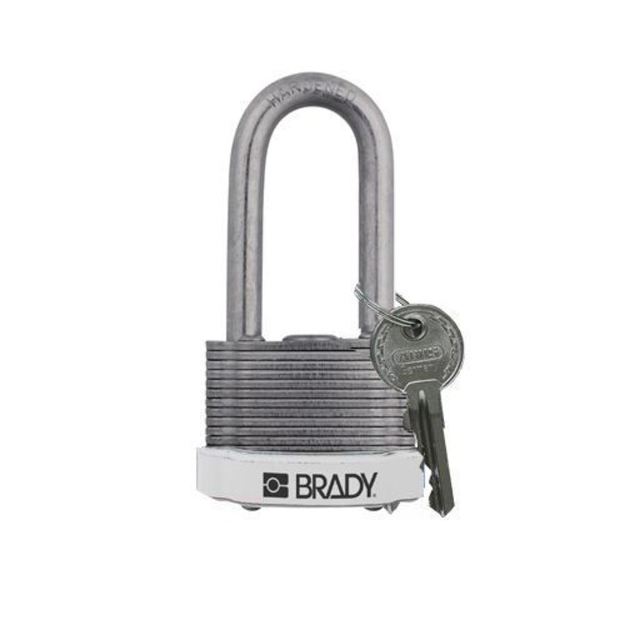 Laminated steel safety padlock white 814112
