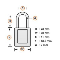 Laminated steel safety padlock purple 814111