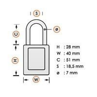 Laminated steel safety padlock yellow 814107