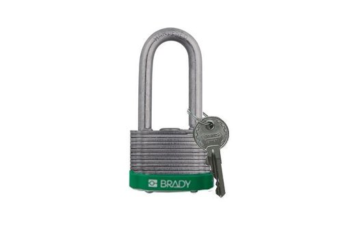 Laminated steel safety padlock green 814108
