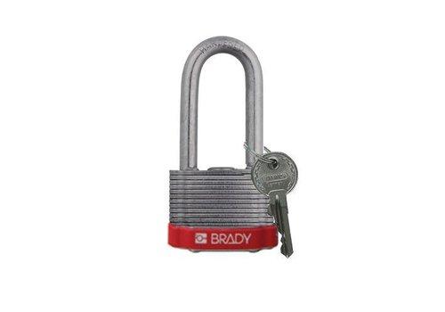 Laminated steel safety padlock red 814106