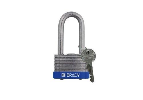 Laminated steel safety padlock blue 814104