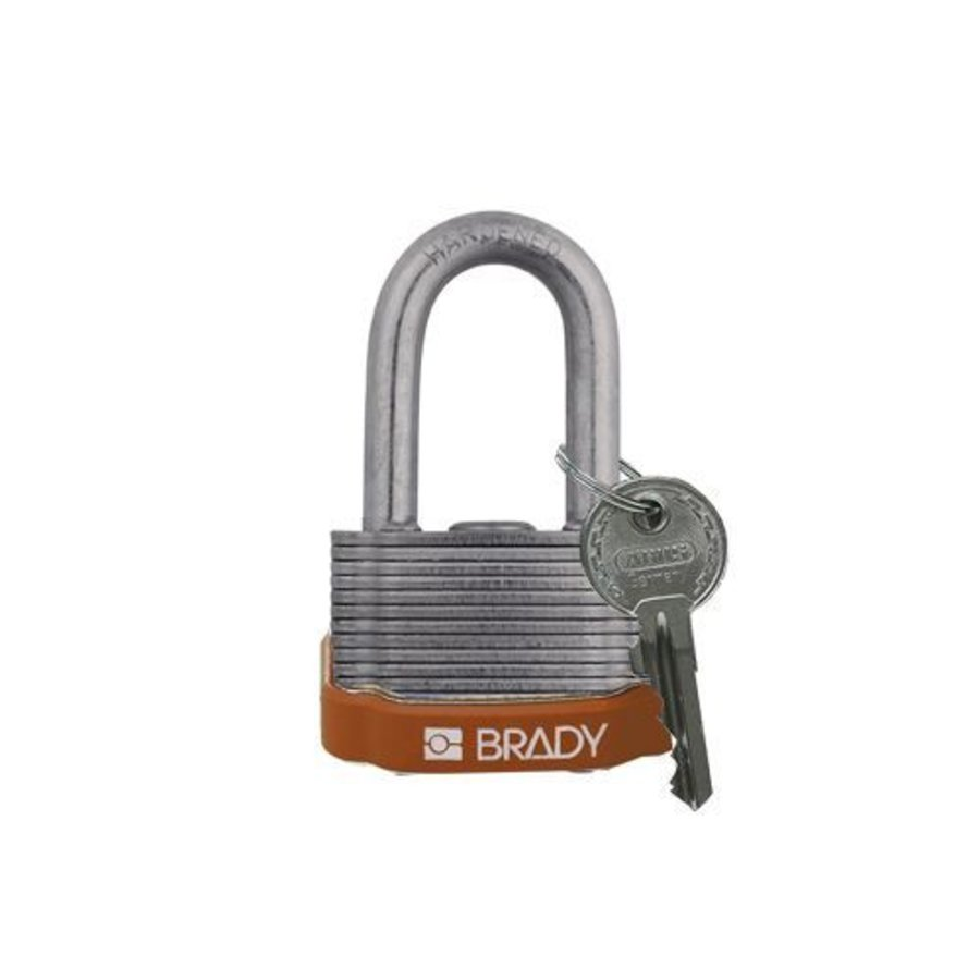 Laminated steel safety padlock brown 814101