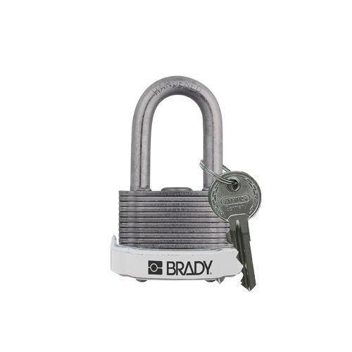Laminated steel safety padlock white 814103