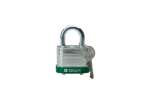 Laminated steel safety padlock green 814090