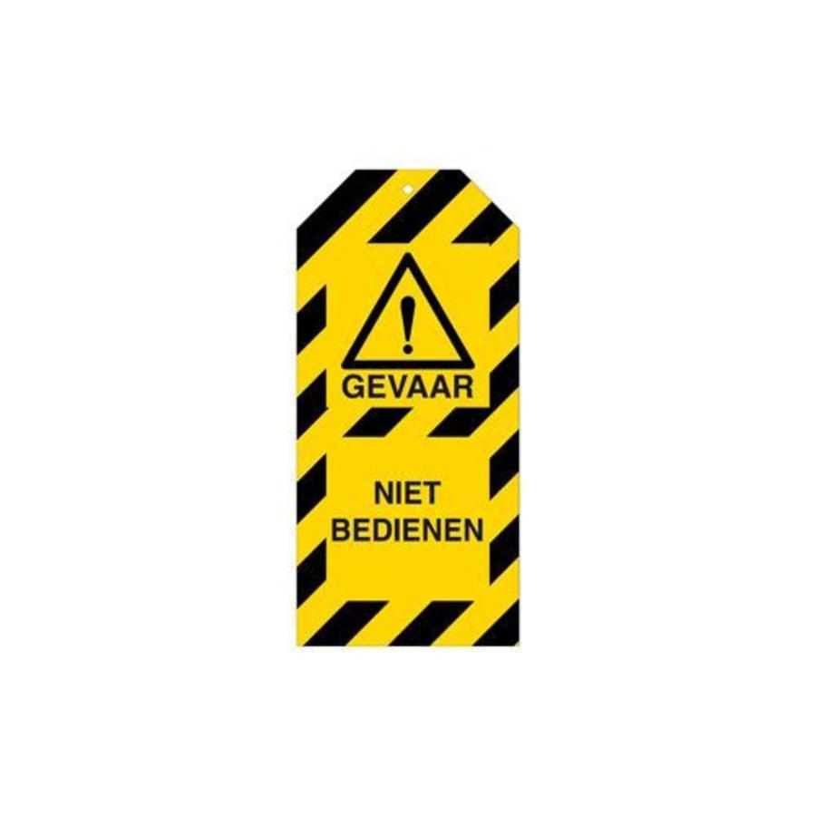 Warning tags danger Dutch