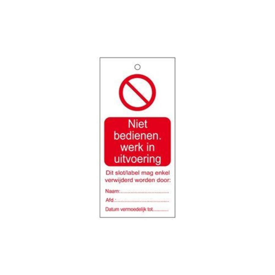 Warning tags Dutch