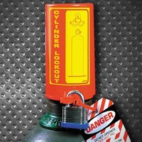 Gas cylinder lockout 045629