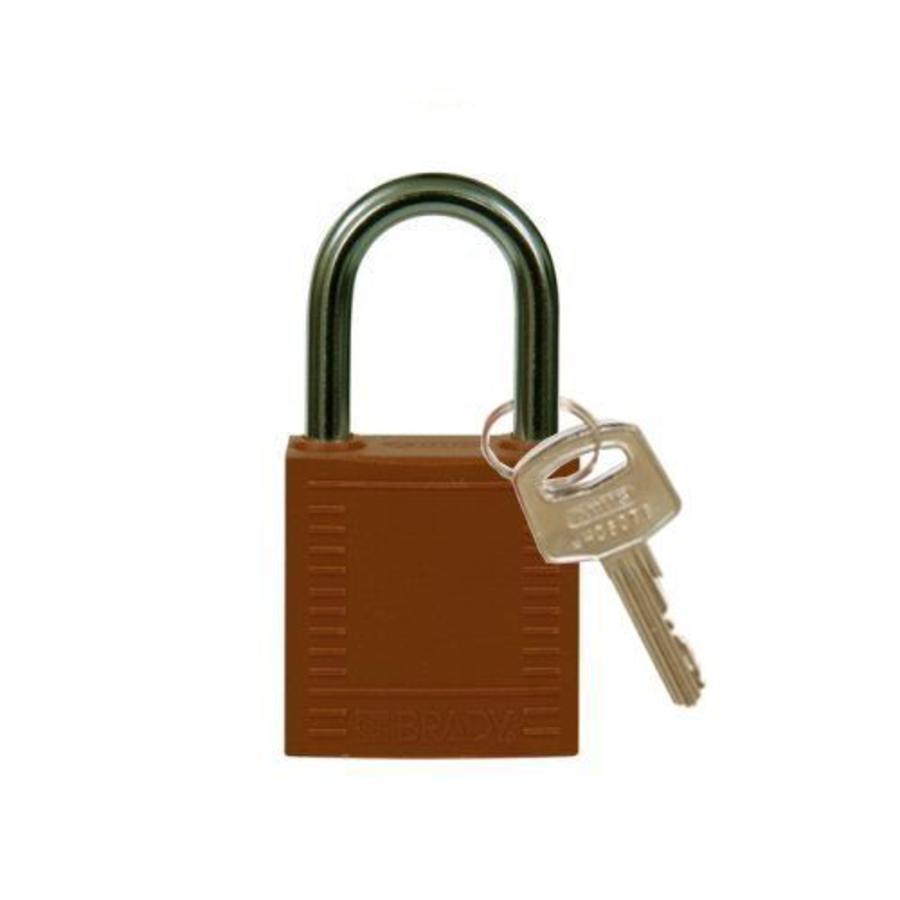Nylon compact safety padlock brown 814120