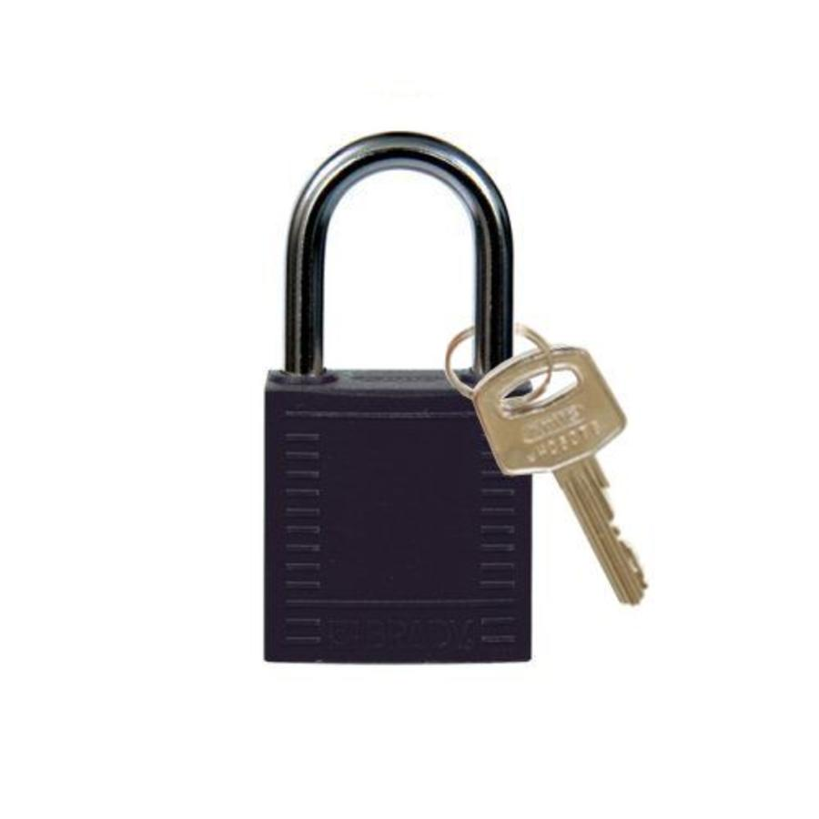 Nylon compact safety padlock black 814115