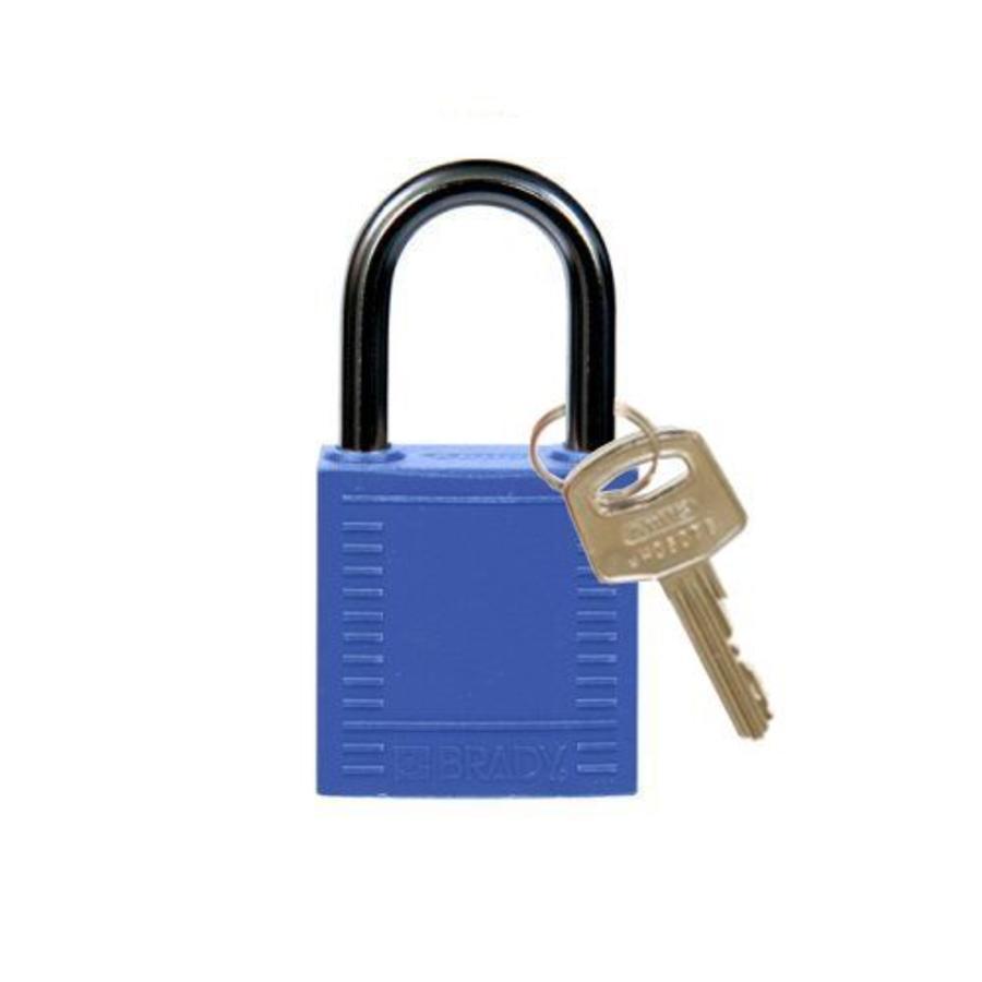 Nylon compact safety padlock blue 814114