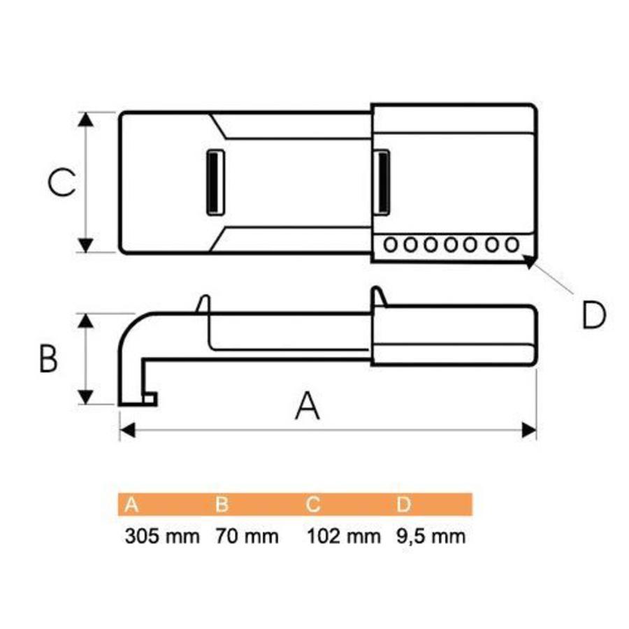 Butterfly valve lockout 256962