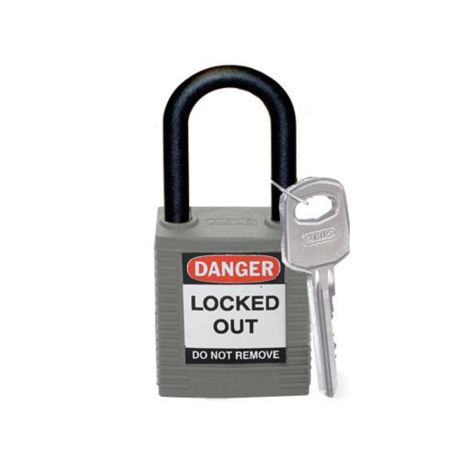 Nylon safety padlock grey 814154