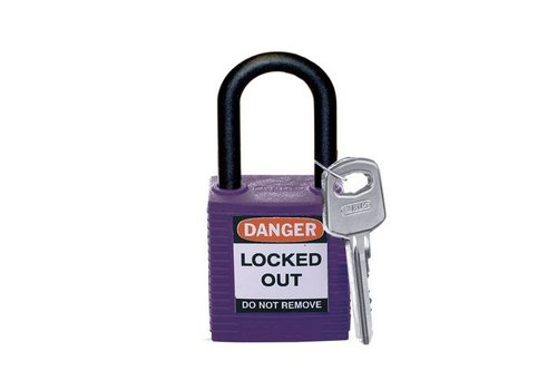 Nylon safety padlock purple 813640