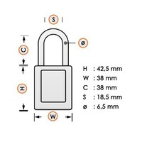 Nylon safety padlock orange 813598