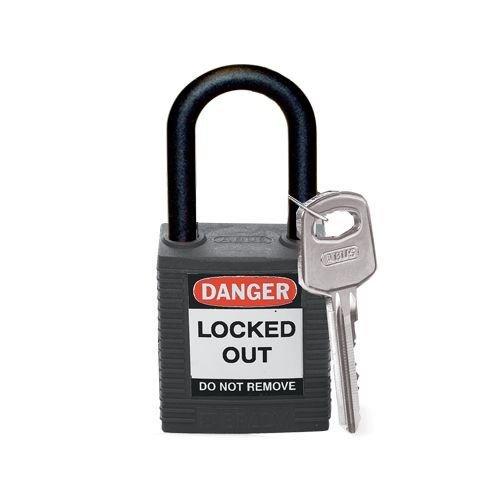 Nylon safety padlock black 813595