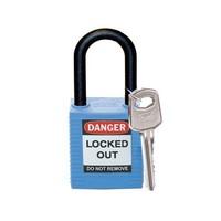 Nylon safety padlock blue 813593